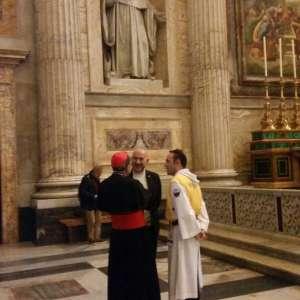 Templiers Catholique avec le Primat des Gaules à la basilique papale de Saint-Paul-hors-les-Murs