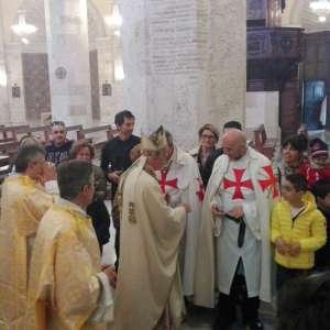 Templiers Catholiques participent aux célébrations à l'occasion des fêtes de Pâques à Ascoli avec S.E. Mgr. Giovanni d'Ercole